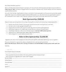 Format For Sponsorship Letter Unique Charity Golf Tournament Sponsorship Letter Sample Request For Event