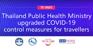 TAT update: Thailand Public Health Ministry upgraded COVID-19 control  measures for travellers - TAT Newsroom