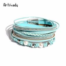 Artilady <b>freshwater</b> pearl bracelet leather bracelet bangles for ...