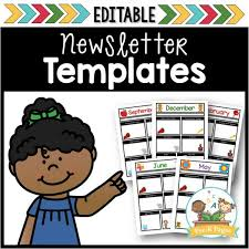 Newsletter Templates Pages Classroom Newsletters Pre K Pages