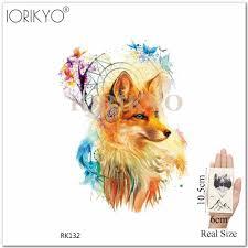 Ioridyo акварельные племенные лисы временные татуировки наклейки ловца снов женщин