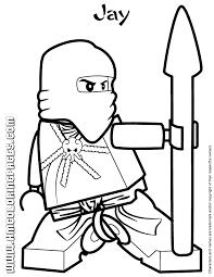 Lego Ninjago Jay Coloring Page Basteln Lego Ninjago Ausmalbilder