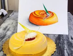 Prochef Modern Carrot Cake Entremet Food