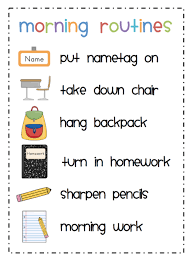 Classroom Routine Chart Routines Procedures My Classroom Management Plan