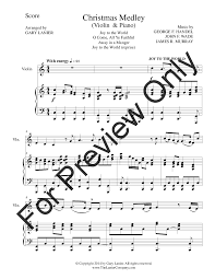 Reviewed in the united states on december 15, 2020. The Christmas Joy Medley Violin Piano Violin J W Pepper Sheet Music