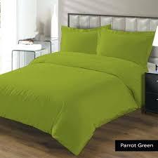 duvet cover set solid green king light lime um size