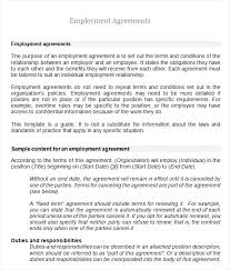 Free Employment Contract Templates Employment Agreement Template Free Download Basic Contract Form Em