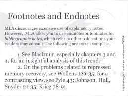 ib extended essay requirements footnotes and endnotes mla discourages extensive use