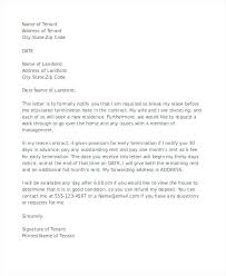 Sample Letter To Landlord To Terminate Lease Early Landlord Termination Of Lease Letter To Tenant Image Titled Write A
