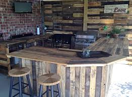 Best 25 Outdoor Pallet Bar Ideas On Pinterest Diy Outdoor Bar