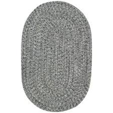 small smokey quartz gray oval braided indoor outdoor rug sea glass