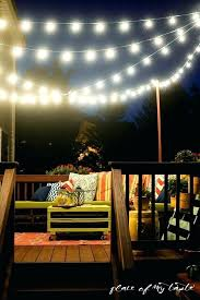How To Hang Outdoor String Lights Impressive Hanging Outdoor String Lights Fresh Hang On Your Deck An Easy Way Of
