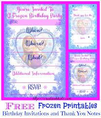 Free frozen thank you card invitation. Free Frozen Birthday Party Invitation And Thank You Printables Freeprintables Frozen Creative K Kids
