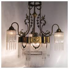 a7337 french glass straw chandelier