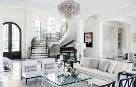 awesome design luxe living room motif rug square coffe table white couch gray cushions standing lamp classic piano white painted wall pendant lamp staircase