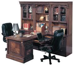 huntington office peninsula desk wall unit 8 piece