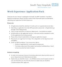 work experience south tees institute lri application open times