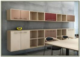 wall mounted office cabinets plain chic