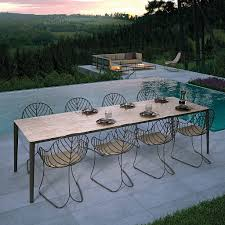 Designer Patio Table Luxury Outdoor Dining Tables Chairs Modern Design