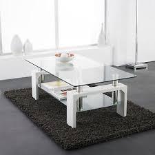 White modern coffee table Amazon Image Is Loading Whitemodernrectangleglassampchromelivingroom Ebay White Modern Rectangle Glass Chrome Living Room Coffee Table With