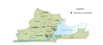 Image result for map of lagos state showing all the local government