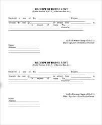 Rent Receipt Form Cool 44 House Rent Receipt Samples Sample Templates