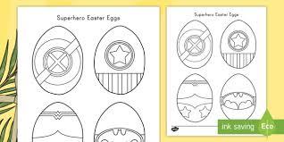 Easter eggs, easter basket, happy easter printables. Superhero Easter Eggs Coloring Sheets Teacher Made