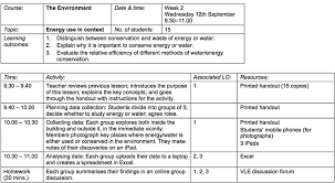 Download Lesson Plan Template A Simple Lesson Plan In Tabular Format Showing The Activities