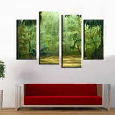 wall art 4 pieces set the beautiful tropical rainforest wall painting print on canvas for on wall art 4 piece set with wall art 4 pieces set the beautiful tropical rainforest wall
