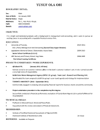 Template Resume Sample For Fresh Graduate Business Administration Cv