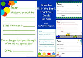 Blank Thank You Card Template Word Fill In The Blank Thank You Note Free Printable