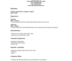 Resume For No Work Experience High School Resume Template For Students With No Work Experience Free