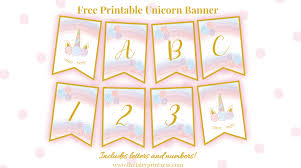 Free Printable Unicorn Banner Perfect For Party Decor And