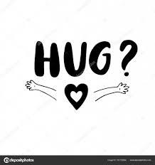 Vettore Abbraccio Bambini Bianco E Nero Abbraccio Poster