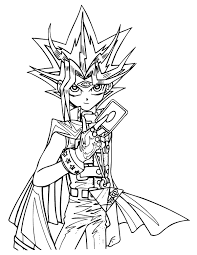 Small Picture Printable Yugioh Coloring Pages Coloring Me