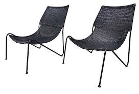California Modern Wicker Chairs Attrib Greta Grossman MIDCENTURY