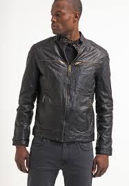camel active leather jacket schwarz men leather jackets
