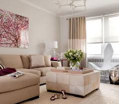 ... Design Ideas Living Room Most Popular Landscape Cream Fabric Sofa  Cushions Rectangle Coffee Table Flower Vase ...