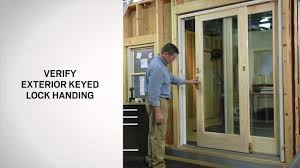 exterior keyed lock installation on andersen frenchwood gliding doors you