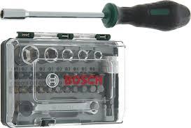 """<b>Набор бит</b> """"Bosch"""" с ключом-<b>трещоткой</b> и <b>отверткой</b>, 28 ..."""