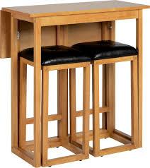 breakfast bars furniture. Furniture Joy - Caspian Natural Oak Drop Leaf Breakfast Set With 2 Bar Stools Bars A