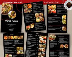 007 Food Thai Menu Template Ideas Restaurant Menus Templates