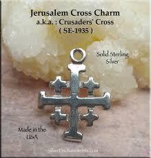 sterling silver jerum cross charm
