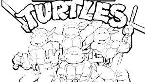 Nickelodeon Teenage Mutant Ninja Turtles Printable Coloring Pages