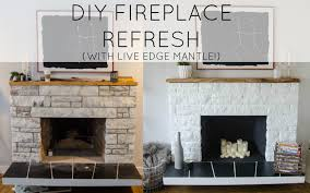 diy stone fireplace hearth ideas paint concrete fireplace hearth ideas