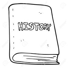 freehand drawn black and white cartoon history book stock vector 53211994