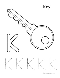 Want to make your kid's learning more fun and exciting? Letter K Writing And Coloring Sheet