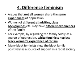 gce sociology revision aqa unit theories of the family  40 4 difference feminism