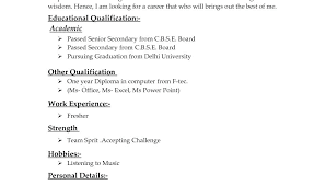 Different Type Of Resume Formats Different Types Of Resume Formats ...