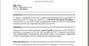 Sap Fico Fresher Resume Sample Best of Inspirational Photograph Of Sap Freshers Resume Format Sap Freshers